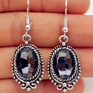 Jewelry - GORGEOUS BOHO Silverplate Crystal Earrinngs